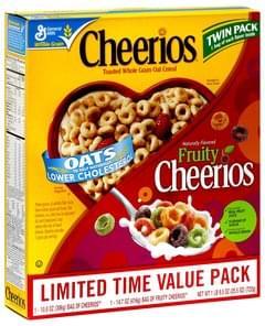 Cheerios Cereal Original & Fruity, Twin Pack
