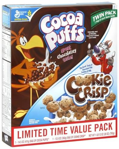Cocoa Puffs Cocoa Puffs & Cookie Crisp Cereal - 2 ea, Nutrition