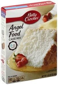 Betty Crocker Angel Food Cake Mix 16 Oz Nutrition