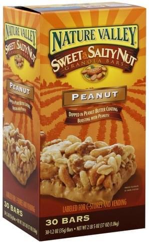 Sweet & Salty, Peanut Granola Bars