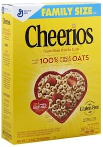 Cheerios Cereal Toasted Whole Grain Oat, Family Size