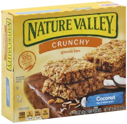 Nature Valley Coconut, Crunchy Granola Bars - 6 ea