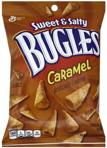 Bugles Crispy, Sweet & Salty, Caramel Corn Snacks - 3 5 oz