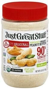 Just Great Stuff Peanut Butter Organic, Powdered