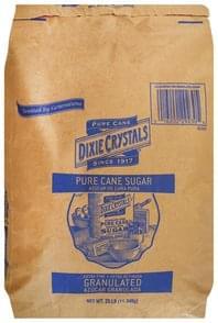 Dixie Crystals Sugar Cane Pure, Extra Fine Granulated
