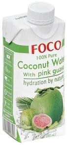 Foco Coconut Water 100% Pure, with Pink Guava