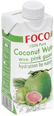 Foco 100% Pure, with Pink Guava Coconut Water - 11.2 oz