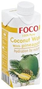 Foco Coconut Water 100% Pure, with Pineapple