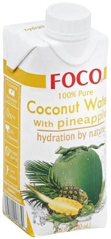 Foco 100% Pure, with Pineapple Coconut Water - 11.2 oz