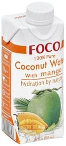 Foco Coconut Water 100% Pure, with Mango