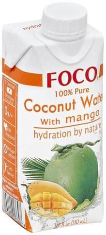 Foco 100% Pure, with Mango Coconut Water - 11.2 oz