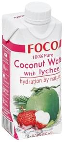Foco Coconut Water 100% Pure, with Lychee