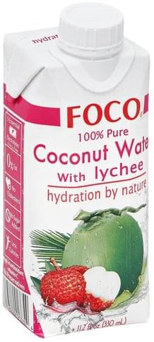Foco 100% Pure, with Lychee Coconut Water - 11.2 oz