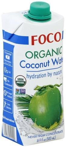 Foco Organic Coconut Water - 16.9 oz