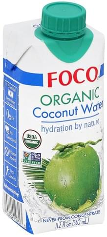 Foco Organic Coconut Water - 11.2 oz