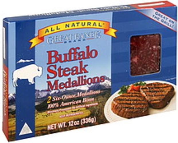Great Range Buffalo Steak Medallions - 12 oz