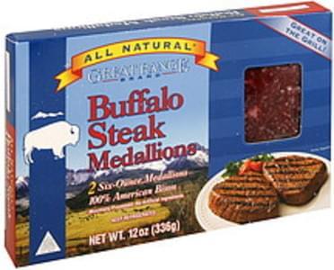 Great Range Buffalo Steak Medallions