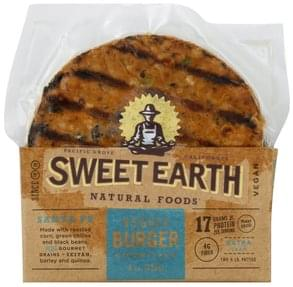 Sweet Earth Veggie Burger Santa Fe, Extra Lean