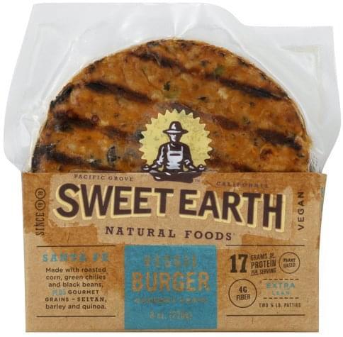 Sweet Earth Santa Fe, Extra Lean Veggie Burger - 2 ea