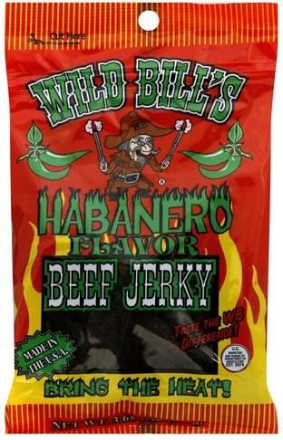 Wild Bills Habanero Flavor Beef Jerky - 3.65 oz