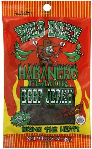 Wild Bills Habanero Beef Jerky - 1.75 oz