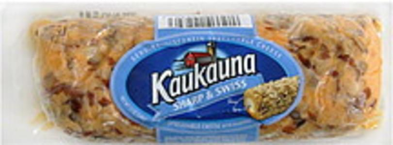 Kaukauna Spreadable Cheese with Almonds, Sharp & Swiss