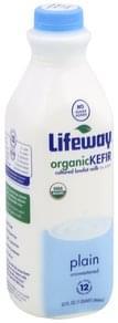 Lifeway Kefir Organic, Plain, Unsweetened