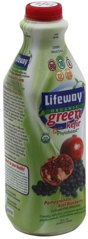 Lifeway Pomegranate Acai Blueberry Kefir Cultured Milk Smoothie - 32 oz