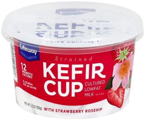 Lifeway Strained, Strawberry Rosehip Kefir - 5.3 oz
