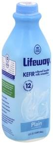 Lifeway Kefir Cultured Milk Smoothie Lowfat, Unsweetened, Plain