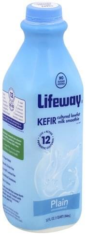 Lifeway Lowfat, Unsweetened, Plain Kefir Cultured Milk Smoothie - 32 oz