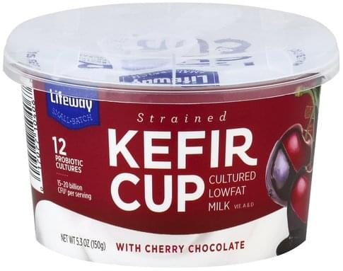 Lifeway Strained, with Cherry Chocolate Kefir Cup - 5.3 oz