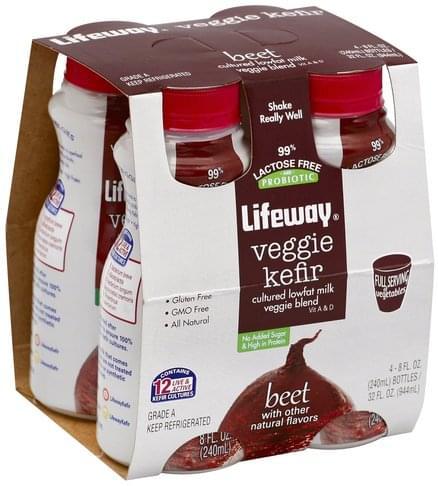 Lifeway Beet Veggie Kefir - 4 ea