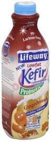 Lifeway Kefir Cultured Milk Smoothie Lowfat, Gingerbread