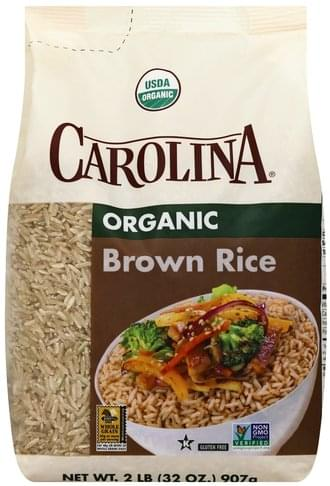Carolina Brown Rice, Organic Rice - 2 lb