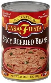 Casa Fiesta Refried Beans Spicy