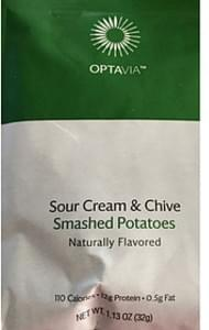 Optavia Sour Cream & Chive Smashed Potatoes