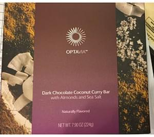Optavia Dark Chocolate Coconut Curry Bar with Almonds and Sea Salt