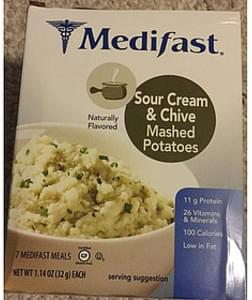 Medifast Sour Cream & Chive Mashed Potatoes