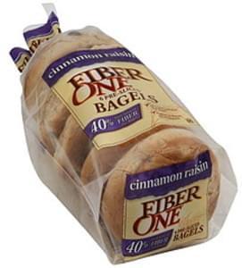 Fiber One Bagels Pre-Sliced, Cinnamon Raisin