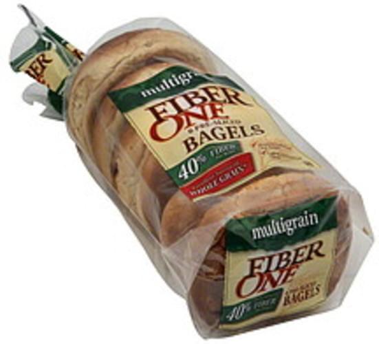 Fiber One Pre-Sliced, Multigrain Bagels - 6 ea