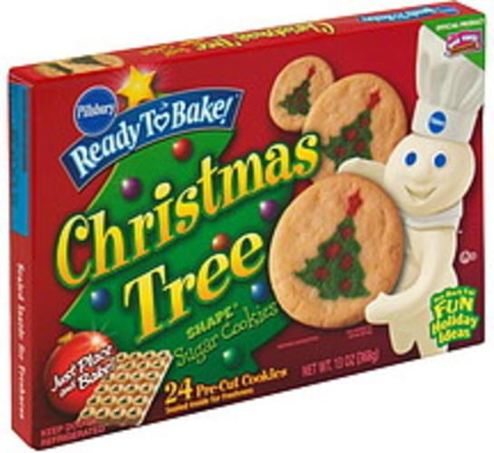 Pillsbury Sugar Christmas Tree Shape Cookies 24 Ea Nutrition