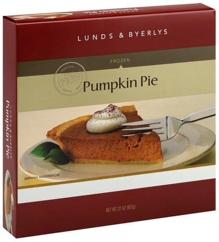 Lunds & Byerlys Pumpkin, Frozen Pie - 32 oz