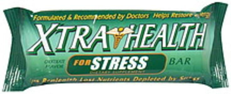 Xtra Health Dietary Supplement Bar for Stress, Chocolate Flavor