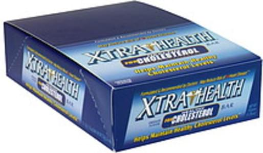 Xtra Health Dietary Supplement Bar for Health Cholesterol, Chocolate Flavor