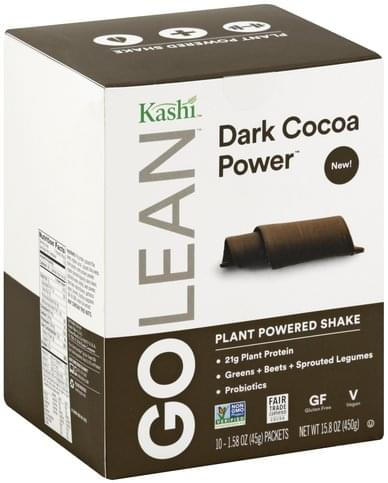 Kashi Dark Cocoa Power Plant Powered Shake - 10 ea