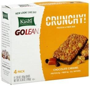Kashi Protein & Fiber Bar Crunchy, Chocolate Caramel