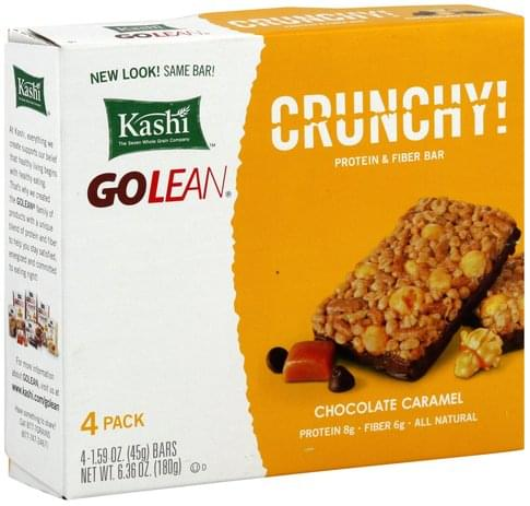 Kashi Crunchy, Chocolate Caramel Protein & Fiber Bar - 4 ea