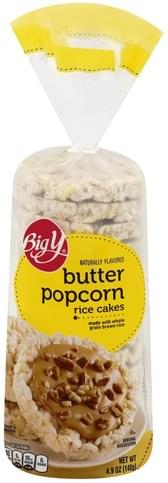Big Y Butter Popcorn Rice Cakes 4 9 Oz Nutrition Information Innit
