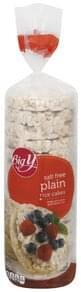 Big Y Rice Cakes Plain, Salt Free